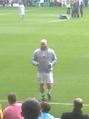 John Hartson - John Hartson before kick-off at the John Kennedy testimonial match, 9 August 2011