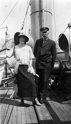 John Bollons - John Peter Bollons and an unidentified woman in November 1923