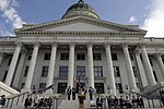 Jon Huntsman speaks during the proclamation ceremony for Air Force Week Salt Lake City at the Utah state capitol building.jpg