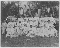 Jonah Kuhio Kalanianaole with cricket team (PP-97-2-020).jpg