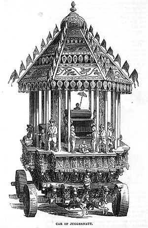 Juggernaut - The Car of Juggernaut, as depicted in the 1851 Illustrated London Reading Book