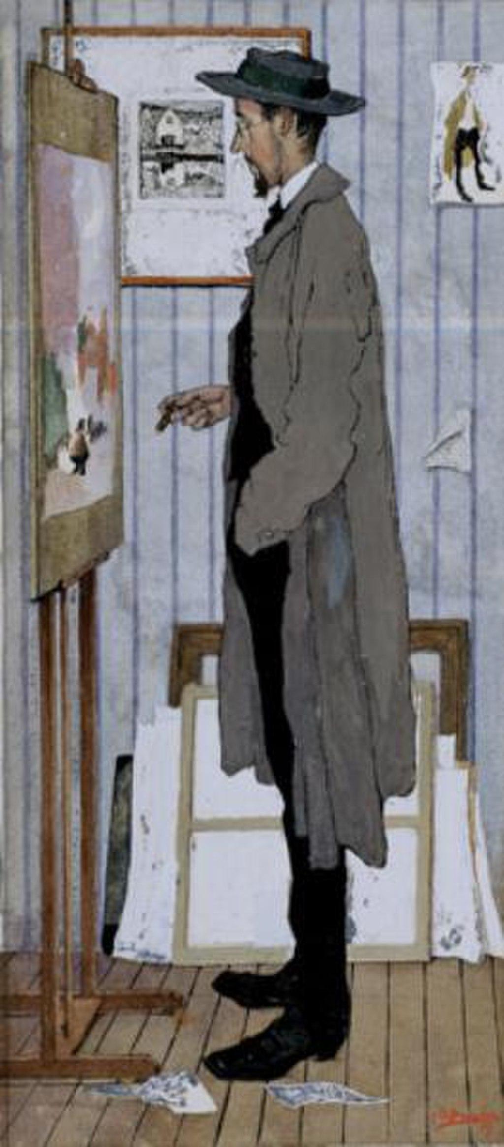 Jules De Bruycker - Frans Masereel in his studio