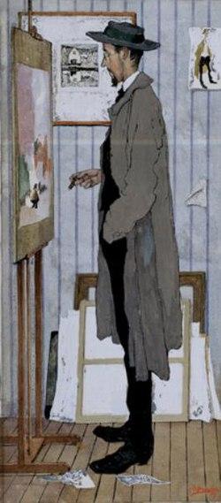 Jules De Bruycker - Frans Masereel in his studio.jpg