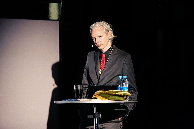 From commons.wikimedia.org: Julian Assange 20091117 Copenhagen 1 {MID-328200}