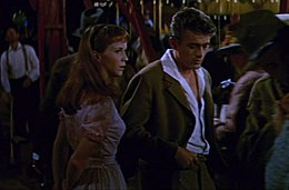 Julie Harris and James Dean in East of Eden trailer.jpg