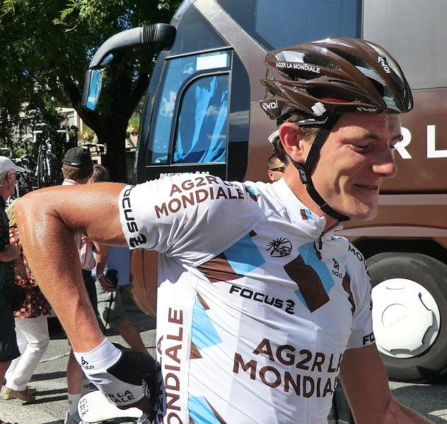 Julien Bérard à l'arrivée.
