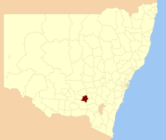 Junee Shire - Location in New South Wales