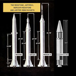 Redstone (rocket family) - Image: Jupiter C vs Jupiter IRBM