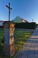 Kříž v půlce ulice Šafaříkova, Němčice nad Hanou, okres Prostějov.jpg