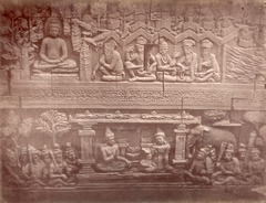 KITLV 90027 - Isidore van Kinsbergen - Reliefs on the Borobudur near Magelang - Around 1900.tif