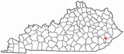 Location of Vicco, Kentucky
