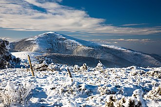 Geography of Bulgaria - A winter view of the Vlahina Mountain near the border with the Republic of Macedonia