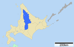 Location of Kamikawa Subprefecture