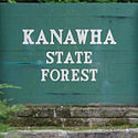 Thumbnail image of Kanawha State Forest entrance sign