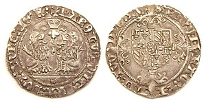 Charles the Bold - Double Briquet, struck under Charles the Bold in Bruges, 1475
