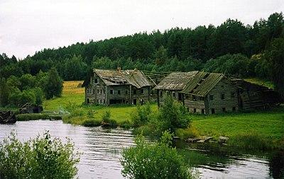 Ödegård i ryska Karelen