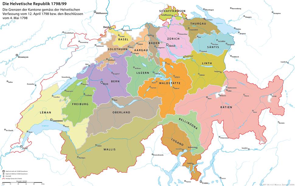 Karte Helvetik 3