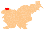 The location of the Municipality of Kranjska Gora