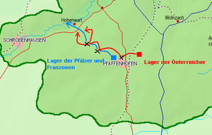 Battle of Pfaffenhofen - The retreat of the French troops