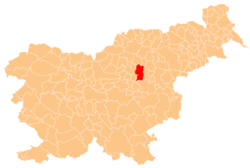 Location of the Municipality of Žalec in Slovenia