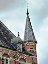 kasteel wijchen 12, oostvleugel noordhoek, dakkapel en hoektoren
