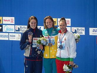 Katinka Hosszú - Image: Kazan 2015 Victory Ceremony 200m backstroke W