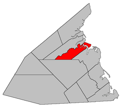Location within Kent County, New Brunswick.