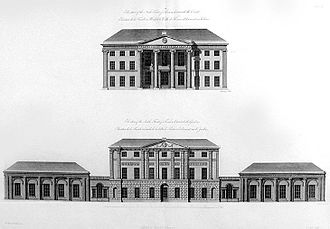 Kenwood House - Elevations of the north and south fronts of Kenwood by Robert and James Adam