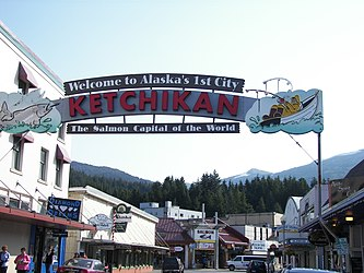 Ketchikan welcome sign, Alaska 2.jpg