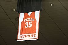 Durant s No. 35 jersey retired by Texas f35bb7858