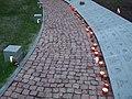 Kijów-Bykownia, alejka z tabliczkami epitafijnymi - path with epitaphs plates - panoramio.jpg