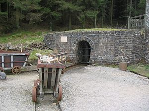 North of England Lead Mining Museum - The entrance to Park Level Mine at the North of England Lead Mining Museum