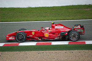 Kimi Räikkönen driving for Ferrari at the 2007...