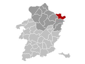 Kinrooi - Image: Kinrooi Limburg Belgium Map