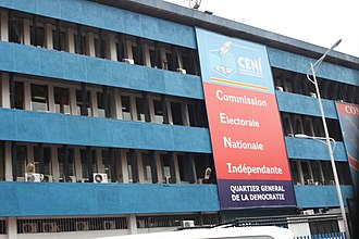 Independent National Electoral Commission (Democratic Republic of the Congo) - CENI Headquarters in Kinshasa
