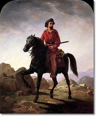 Jicarilla War - Kit Carson in 1854 by William Ranney