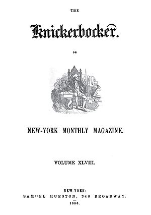 The Knickerbocker - Image: Knickerbocker Magazine Cover 1856
