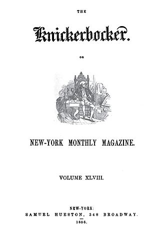 The Knickerbocker - Image: Knickerbocker Magazine Cover 1856