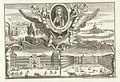 Koninklijk Paleis te Madrid en portret van koning Filips V, ca. 1702 Les Forces de l'Europe, Asie, Afrique et Amerique, ou description des principales villes avec leurs fortifications. Dessignées par, RP-P-OB-83.034-259.jpg