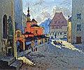 Konstantin Gorbatov - Street View with a Church.jpg