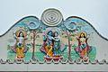 Krishna-Radha - West Railing Mural - Ramakrishna Mandir - Jadu Nath Hati Smasana Complex - Sankrail - Howrah - 2013-08-11 1443.JPG