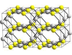 Kristallstruktur von Palladium(II)-sulfid
