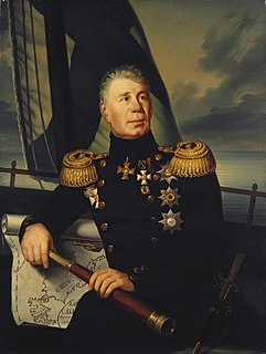 Baltic German admiral and explorer in Russian service, who led the first Russian circumnavigation of the globe