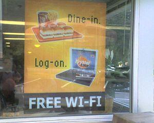 Krystal restaurant wi-fi poster in Birmingham,...