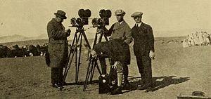 Robert Kurrle - Kurlle (left) on location in the Sahara, 1924
