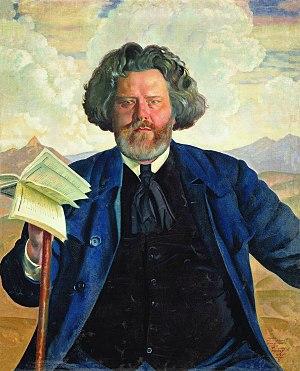 Maximilian Voloshin - Maximilian Voloshin by Boris Kustodiev (1924)