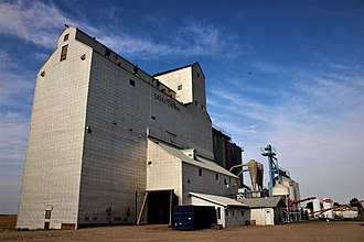 Kyle, Saskatchewan - Former Saskatchewan Wheat Pool grain elevator in Kyle.