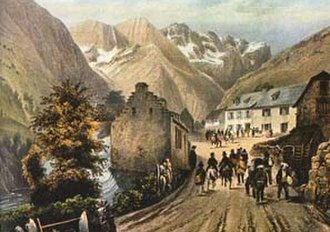 Société Ramond - L'Hôtel des Voyageurs in Gavarnie, where the idea for the society was first mooted