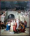 Léon benouville, martiri cristiani entrano nell'anfiteatro, 1855.JPG