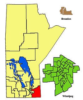 La Verendrye (electoral district) in Manitoba, Canada